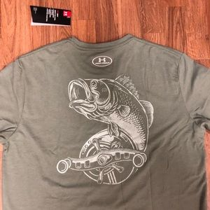 🎣 NWT Under Armour Trout Fishing T-Shirt Men's L